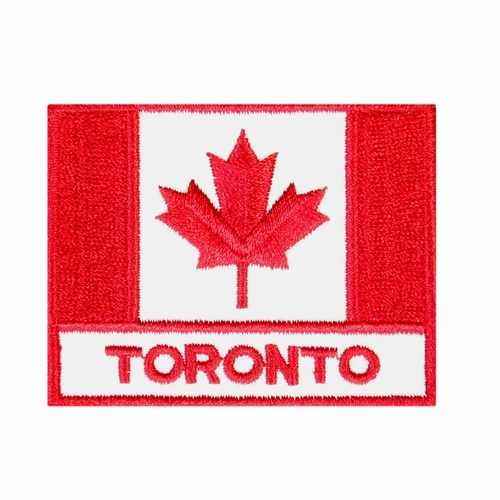Canadian flag patches toronto