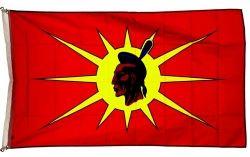 3'x5 'Flag >Oka/Mohawk Warrior