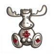CDA Magnet 3D>Moose Cutout Sil