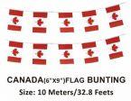 """CDA Flag Bunting>Canada (Flag size 8""""x12"""")"""